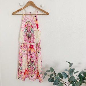 Pink Print Mini Dress